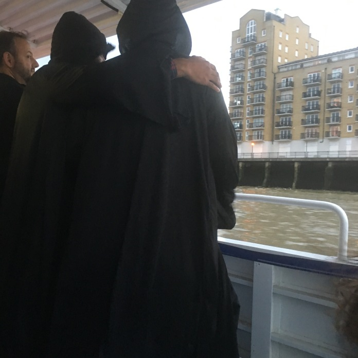 And escorted us down the river